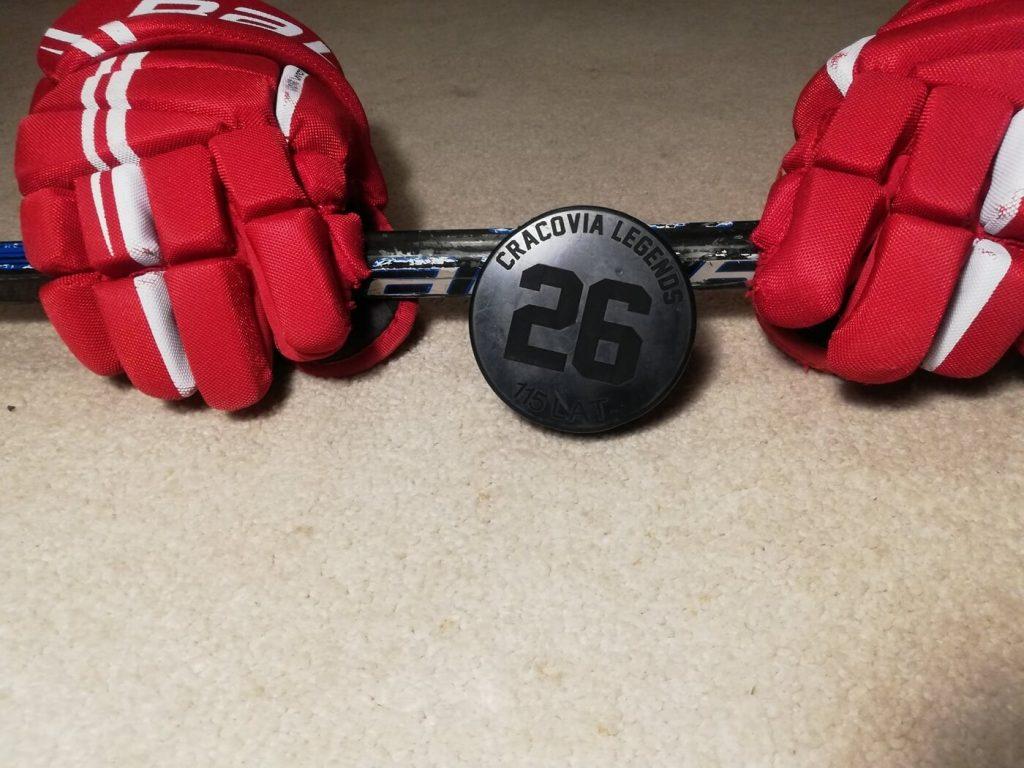 Rękawice hokejowe i krążek